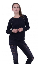 Round Neck Knitted Pullover
