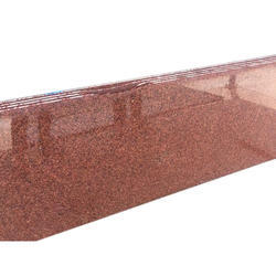 Thick Slab Bruno Red Granite Slabs, For Flooring, Thickness: 20 mm