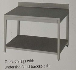 Steel Stainless SS Table With Undershelf