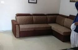 L-Shaped Sofa combed