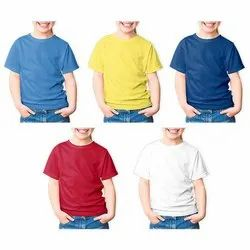 Plain Cotton Kids Round Neck T-Shirts