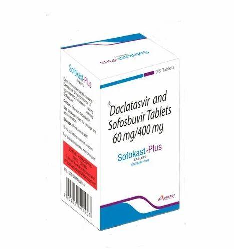 Sofokast-Plus Tablets. Sofosbuvir 400mg & Daclatasvir 60mg