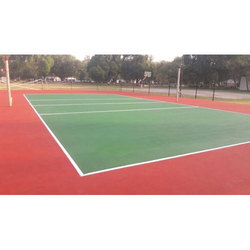 Red & Green Volleyball Court Flooring