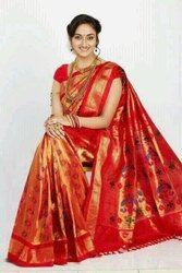 Pure Silk Kadiyal Paithani Saree