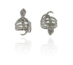 Diamond Ruby Snake Ring