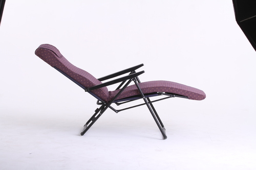 Steelwin Moulded Cushion On A Steel Frame Purple Recliner