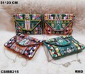 Craftstages International Leather Handcrafted Beautiful Banjara Bags, Size: 16*8.5 Cm