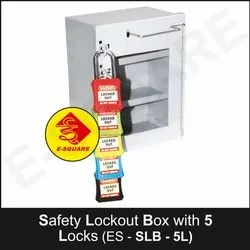 Safety Lockout Boxes With 5 Locks