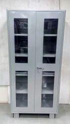 Glass Door Steel Cupboard, Size: 78 x 36 x 19 inch