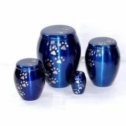 Blue Color Pet Cremation Urn