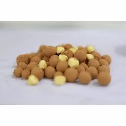 Chocolate Coated Hazelnuts With Cocoa Dust