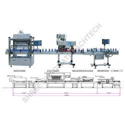 Hair Oil Bottle Filling Capping Labeling Machines