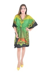 Ladies Green Cotton Kaftan
