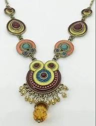 Zinc Multicolor Ladies Necklace