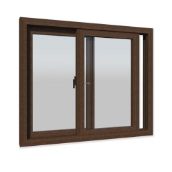 Walnut Colour Sliding UPVC Windows