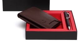 Genuine Leather Wallet Combo
