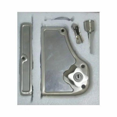 Klaxon Iron Door Lock, Stainless Steel