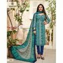 Stitched Deeptex Ladies Georgette Churidar Suit