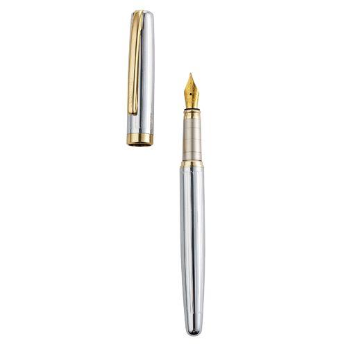 Executive Chrome Gold Metal Fountain Pen