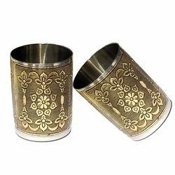 Golden Antique Worked Drinking Glass