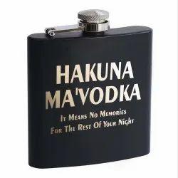 Customized Hip Flask- Black