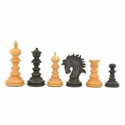 Ebony Wood St. Petersburgh Chess Pieces Luxury Staunton