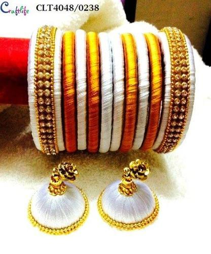 bangles for women and orange yellow set dulhan buy work girls dp thread fashion bangle rajputani golden kundan violet pink
