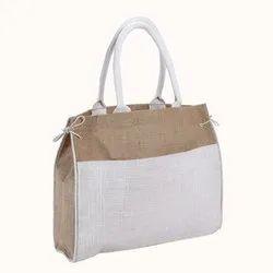 Plain Ladies Jute Handbag
