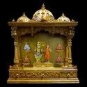 Decorative Wooden Pooja Temple, For Home, Office, 5-6 Kg