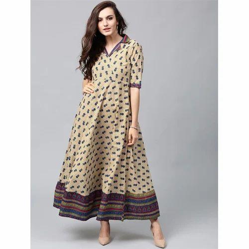edb2ea036c SYASII Cotton Designer Printed Gowns