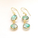 Green Rutilated Earrings