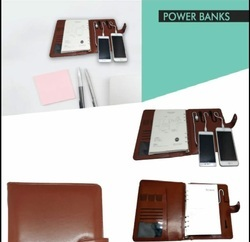 Leather Diary with 5000 mAh Powerbank