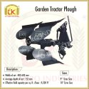 Mild Steel Garden Tractor Plough, Size: 9 Inches & 10 Inches Tyres Size, Model Name/number: Golden Tractor Plough