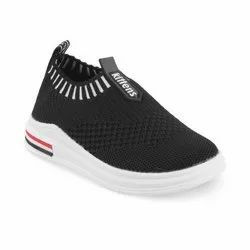 KTB526 Black Kids Slip On Shoes