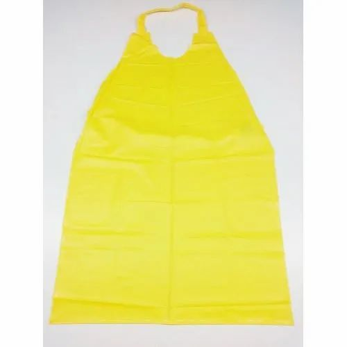 Yellow Plain Disposable Plastic Apron, for Kitchen, Size: Free Size