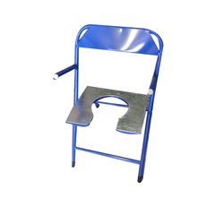 Snow Surgicals Aluminium And Steel Foldable Commode Chair