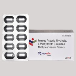 Ferrous Asparto Glycinate eq. to Elemental Iron , L-Methylfolate calcium  & Methylcobalamin Tab