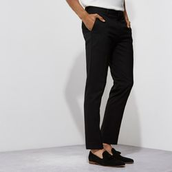 Mens Cotton Black Trouser, Size: 32-36