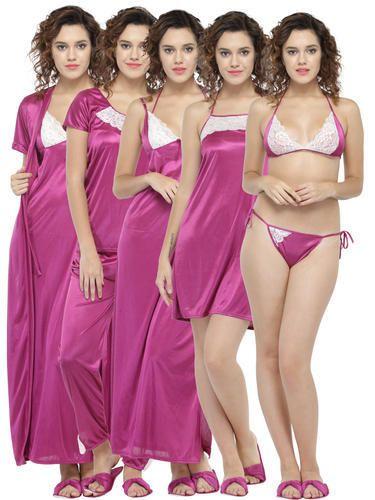 8b7b9d219b Women 8 Pcs Nightwear Set with Footwear at Rs 479  set