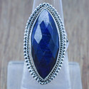 Sapphire Gemstone 925 Sterling Solid Silver Ring Jewelry