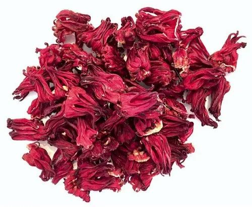 Natural Dry Hibiscus Flower, Packaging Size: 20Kg