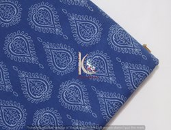Indigo Blue Fast Color Floral Leaf Block Print Cotton Fabric