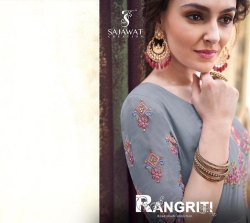 Sajawat Creation Rangriti Series 42031-42038 Stylish Party Wear Rayon Gown