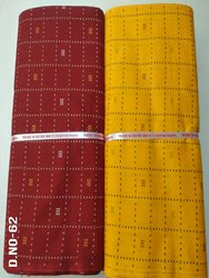 Flex Red,Yellow Printed Cotton Fabric, For Garments, Model Name/Number: 62