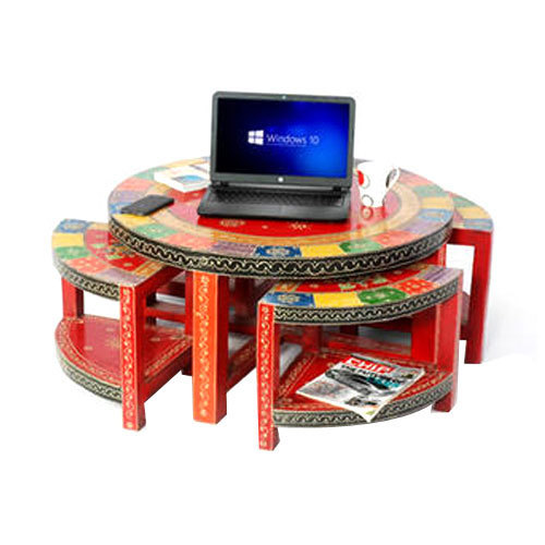 Wooden Handicraft Painted Coffee Table
