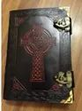 Cross Design Leather Journal With Double Latch