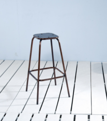 Mill Cafe & Bar Stool with Copper Finish