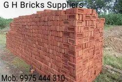 Rectangular Red Bricks, Size: 9x4x3