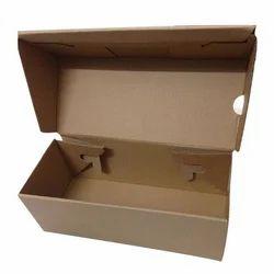 Folding Corrugated Shoe Box