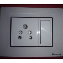 White Polycarbonet Modular Electric Switch Plate